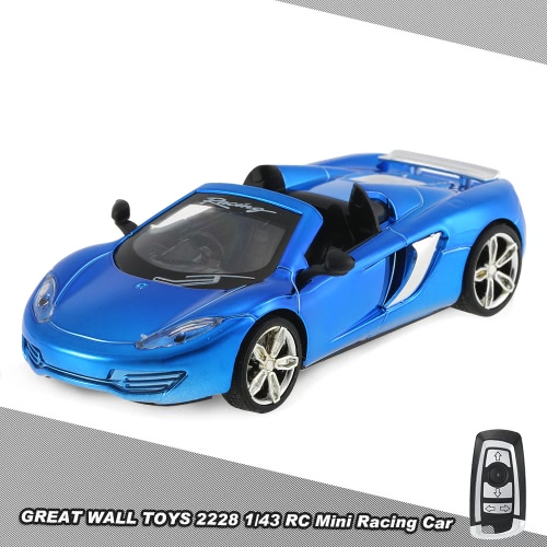 Buy GREAT WALL TOYS 2228 2.4G 2CH 1/43 Remote Control Mini Racing Car Collection Toys Vehicle Kids