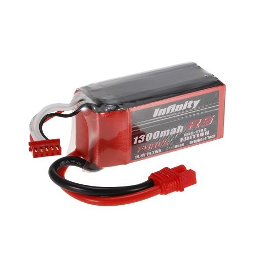 Buy Infinity 4S 14.8V 1300mAh 80C-110C LiPo Battery SY60 XT60 Plug 250 280 Racing Drone RC Car Boat