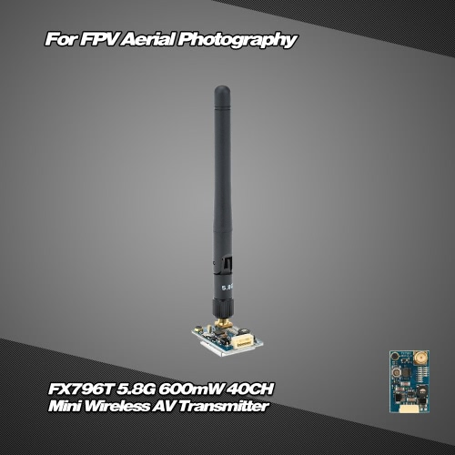 Buy FX796T-6 5.8G 600mW 40CH Mini Wireless AV Transmitter 5V Output FPV Aerial Photography