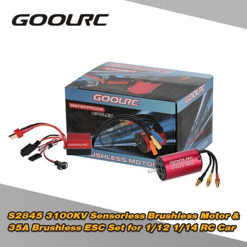 Buy Original GoolRC S2845 3100KV Sensorless Brushless Motor 35A ESC Combo Set 1/12 1/14 RC Car Truck