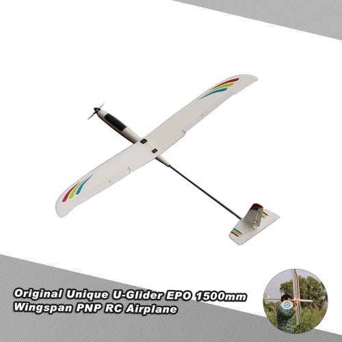 Buy Original Unique U-Glider Drone EPO 1500mm Wingspan PNP RC Airplane Aircraft Glider folding Propeller