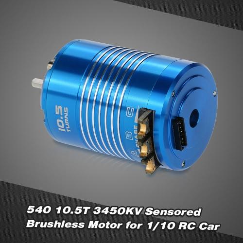 Buy High Performance 540 10.5T 3450KV Sensored Brushless Motor 1/10 RC Car Truck