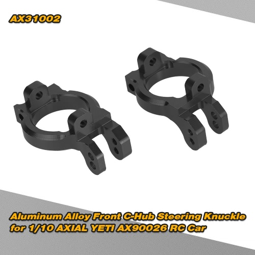 Buy AX31002 Aluminum Alloy Front C-Hub Steering Knuckle 1/10 AXIAL YETI AX90026 RC Car