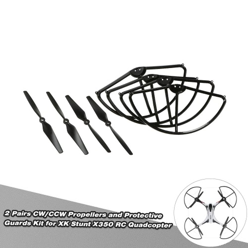 Buy 4 Pairs CW/CCW Propellers Protective Guards Kit XK Stunt X350 RC Quadcopter