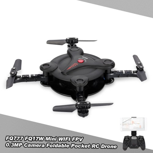 Buy FQ777 FQ17W 6-Axis Gyro Mini Wifi FPV Foldable G-sensor Pocket Drone 0.3MP Camera Altitude Hold RC Quadcopter