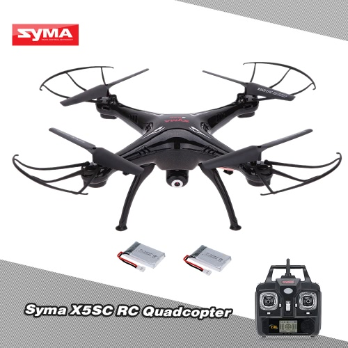 Buy SYMA X5SC 2.4G 6-Axis Gyro 2.0MP Camera Drone Headless Mode 3D Flip RC Quadcopter RTF One Extra Battery