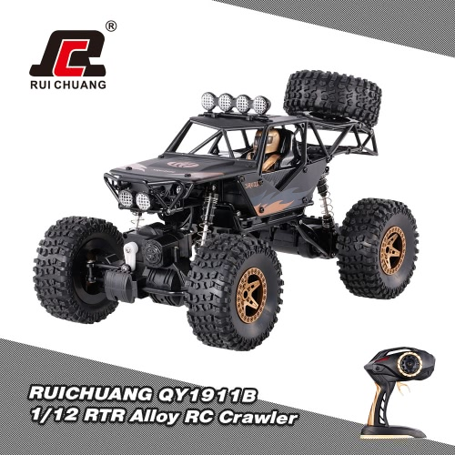 Buy RUICHUANG QY1911B 2.4GHz 4WD 1/12 Electric RTR Alloy High Speed Waterproof Anti-crash Crawler RC Car
