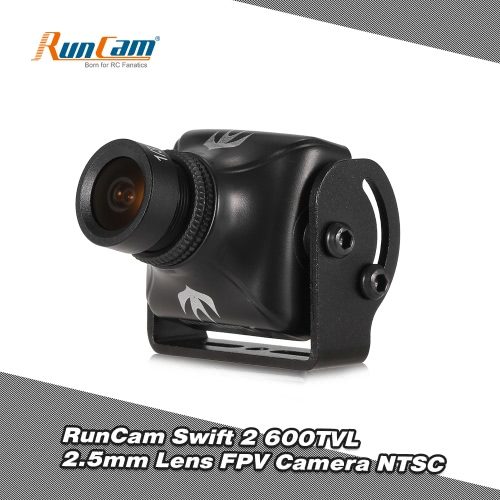 Buy RunCam Swift 2 600TVL 2.5mm Lens 130° FOV FPV Camera OSD IR Blocked NTSC QAV250 Racing Drone Quadcopter Aerial Photography