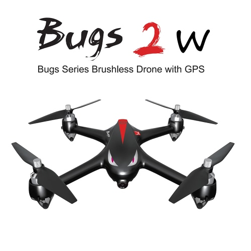 Buy MJX B2W Bugs 2W 2.4G 6-Axis Gyro Brushless Motor Independent ESC 1080P Camera Wifi FPV Drone GPS RC Quadcopter