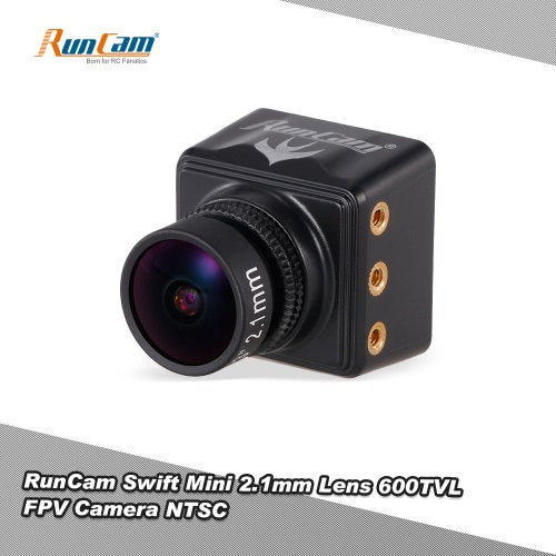 Buy RunCam Swift Mini 600TVL 2.1mm Lens DC 5-36V FPV Camera OSD IR Blocked NTSC QAV250 Racing Drone Aerial Photography