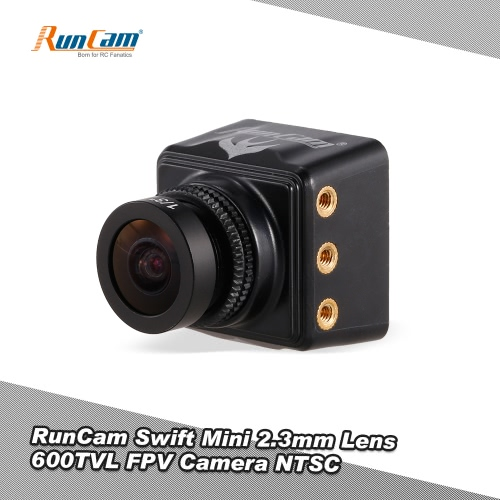 Buy RunCam Swift Mini 600TVL 2.3mm Lens DC 5-36V FPV Camera OSD IR Blocked NTSC QAV250 Racing Drone Aerial Photography