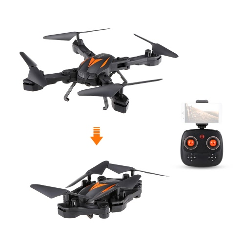 Buy Florld F12W Wifi FPV 2MP HD Camera Foldable Headless Mode 6-axis Gyro 2.4 G Selfie Drone Height Hold RC Quadcopter RTF