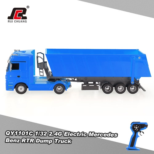 Buy RUICHUANG QY1101C 1/32 1:322.4G Electric Mercedes Benz Dump Truck RC Car RTR