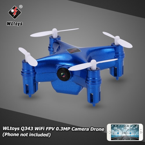 Buy Original WLtoys Q343 WiFi FPV Mini RC Quadcopter 0.3MP Camera Barometer Set Height Drone Controlled Smartphone