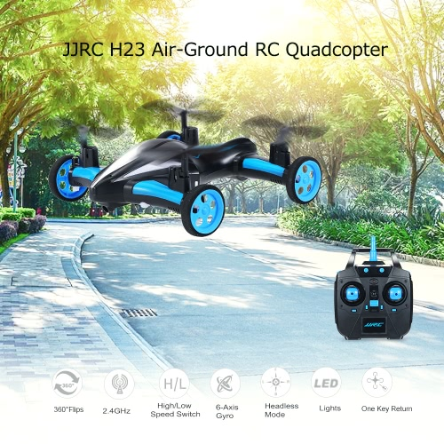 Buy JJRC H23 Air-Ground Flying Car 2.4G 4CH 6-Axis Gyro RC Drone RTF Quadcopter 3D Flip One-key Return Headless Mode