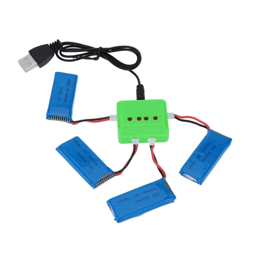 Buy Super Fly Charger Battery Sets 3.7V 500mAh 25C Lipo X4 Hubsan H107D FPV Quadcopter