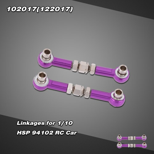 102017(122017) upgrade parts aluminum alloy linkages for 1/10 HSP RC Car 94102 Nitro Powered On-road Touring Car