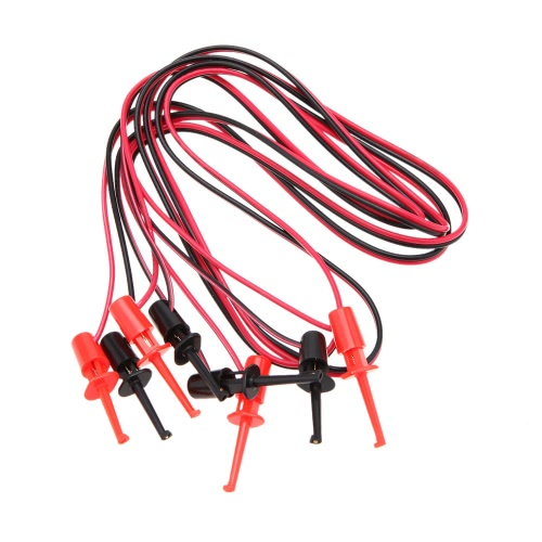 Buy GoolRC Universial Red Black Colors 2.3mm 3.7mm Mini Hook Clip 1m Plastic Test Supportive Cable