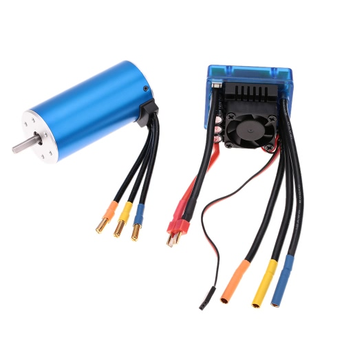 Buy 3674 2250KV 4P Sensorless Brushless Motor 120A ESC(Electric Speed Controller)for 1/8 RC Car Truck