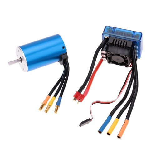 Buy 3660 2600KV 4P Sensorless Brushless Motor 80A ESC(Electric Speed Controller)for 1/10 RC Auto Car Truck