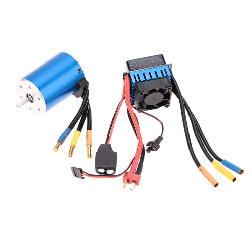 Buy 3650 3100KV/4P Sensorless Brushless Motor 60A ESC(Electric Speed Controller)for 1/10 RC Car Truck