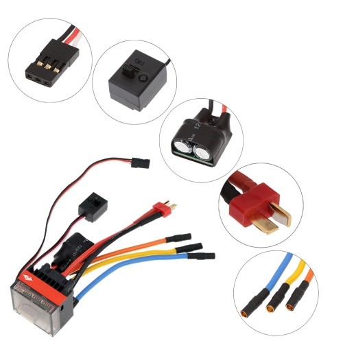 Buy FVT Wolf 2-3s LiPo Battery 35A Pro High Voltage Waterproof Car Brushless Electronic Speed Controller ESC Switch Mode 6V/2A BEC 1/10 RC Racing Cars 1/16