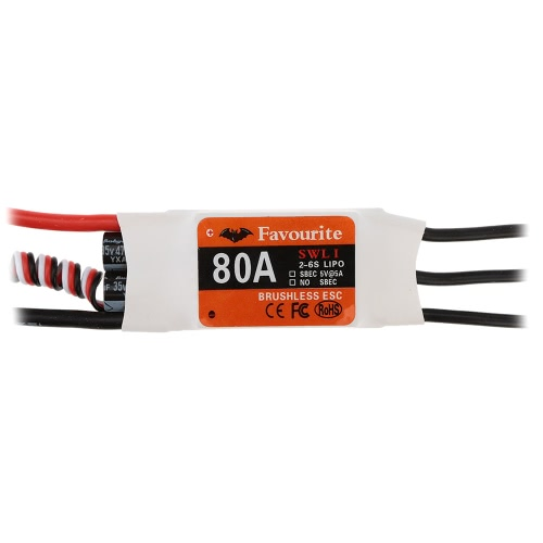 Buy Favourite Sea Swallow 80A 2-6S LiPo Battery Brushless Motor Electronic Speed Controller ESC 5V/5A Swwitch Mode BEC Airplane Fixed Wing
