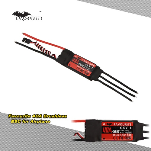 Buy Favourite SKYI series 40A 2~4S LiPo Battery Brushless Motor Electronic Speed Controller ESC 5V/3A Switch Mode SBEC RC Fixed Wing Airplane