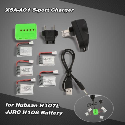 Buy Super Fly 5-port Fast Charger Sets 3.7V 240mAh Lipo Battery RC Helicopter / Quadcopter Hubsan H107L H107C JJRC H108 H108C H6C JJ180 JJ1000 UDI U816 U816A