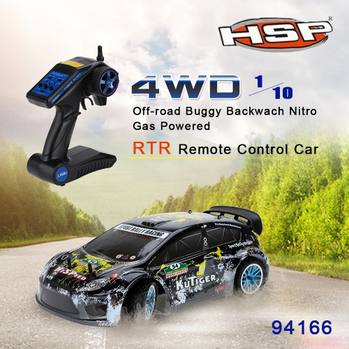 Buy Original HSP 94177 Nitro Powered Off-road Sport Rally Racing 1/10th Scale 4WD RC Car KUTIGER Body 2.4Ghz 2CH Transmitter RTR Version
