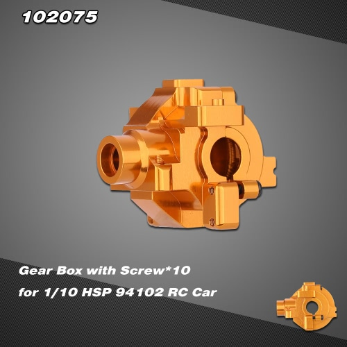 102075 Upgrade Part Aluminum Alloy Gear Box with Screw*10 for 1/10 HSP RC Car 94102 Nitro Powered On-Road Touring Car 94110 Nitro Powered Off-Road Truggy