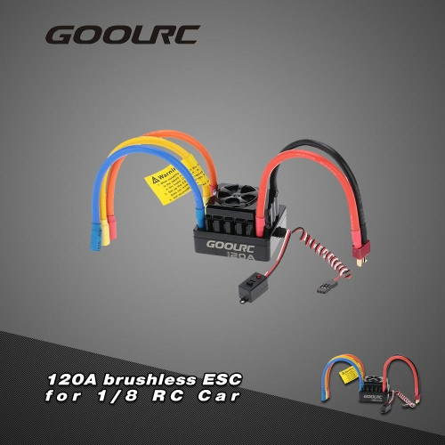 Buy GoolRC 120A 2~6S LiPo Battery Sensored Brushless Electronic Speed Controller ESC 1/8 RC Car