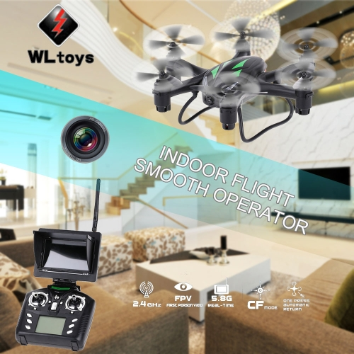 Original WLtoys Q282G 4CH Six Axis Gyro 5.8G FPV Drone RC Hexacopter With 2.0MP HD Camera CF Mode