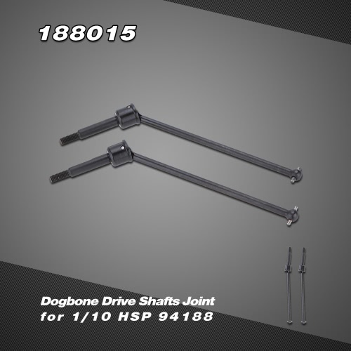 188015 Upgrade Part Stainless Steel Dogbone Drive Shafts Joint for 1/10 HSP 94188 Nitro Powered 4WD Off-road Monster Truck
