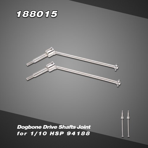 188015 Upgrade Part Stainless Steel Dogbone Drive Shafts Joint for 1/10 HSP RC Car 94188 Nitro Powered 4WD Off-road Monster Truck