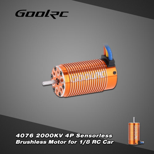 Buy GoolRC 4076 2000KV 4P Sensorless Brushless Motor 1/8 RC Monster Truck
