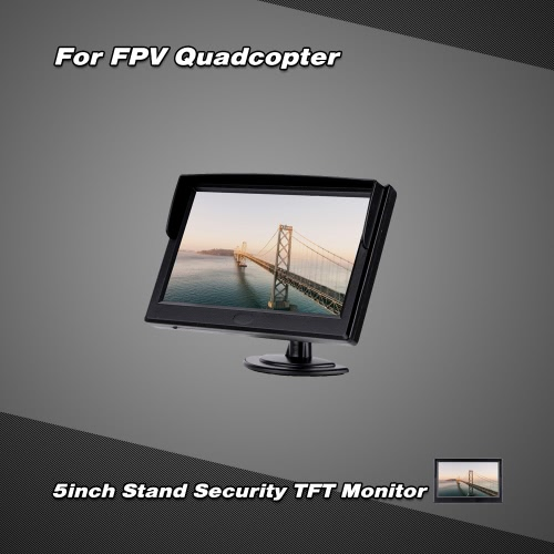 800 * 480 Resolution 5inch LCD TFT Monitor with 2 Video Inputs for FPV  Aerial Photography