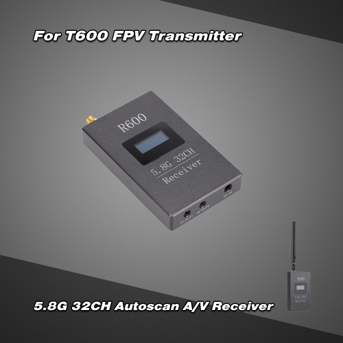 Buy R600 5.8G 600mW 32CH AV Image Transmission Receiver OLED Display FPV Aerial Photogaraphy