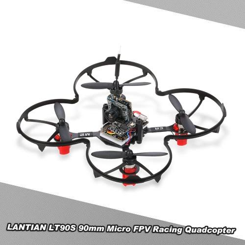 Buy LANTIAN LT90S 90mm Micro FPV Racing Drone Quadcopter F3 EVO Flight Controller Support Frsky Taranis X9D/X9D Plus BNF