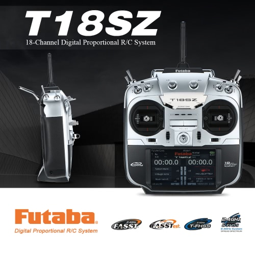 Buy Original Futaba T18SZ 2.4GHz FASSTest 18CH Radio Transmitter Mode 2 & R7008SB 8CH Receiver RC Airplane Helicopter Glider Multicopter