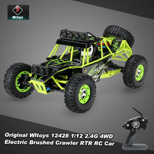 Buy Original Wltoys 12428 1/12 2.4G 4WD Electric Brushed Crawler RTR RC Car
