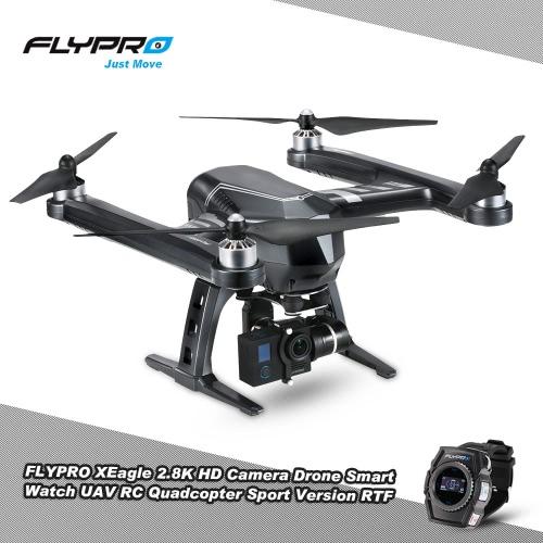 Buy Original FLYPRO XEagle 2.8K HD Camera Drone Smart Watch UAV Auto-follow Fly RC Quadcopter Sport Version RTF