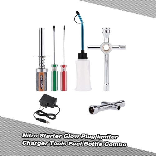 Buy Nitro Starter Glow Plug Igniter Charger Tools Fuel Bottle Combo Redcat HSP Powered 1/8 1/10 RC Car