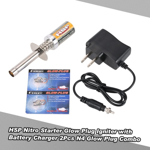 Buy HSP Nitro Starter Kit Glow Plug Igniter Battery Charger N4 Combo RedCat Powered 1/8 1/10 RC Car