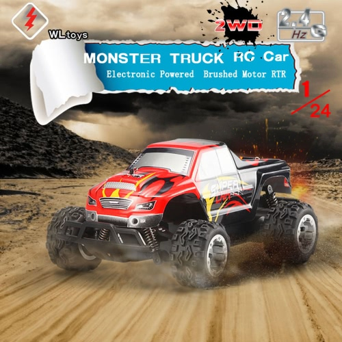 Original WLtoys L343 1/24 2.4G Electric Brushed 2WD RTR RC Monster Truck