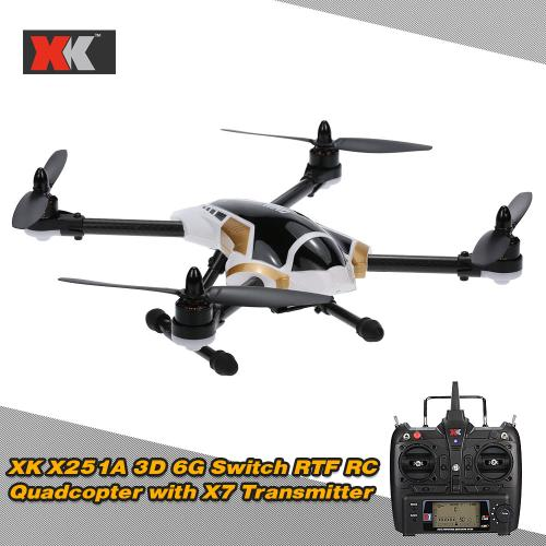 Buy XK X251A Brushless Motor 3D 6G Switch Remote Control RTF RC Quadcopter X7 Transmitter
