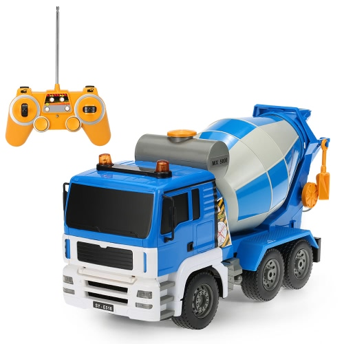 Buy Original Double E E518-003 1:20 27MHz 4WD Cement Concrete Mixer Engineering Truck Model Construction vehicle Toys Children