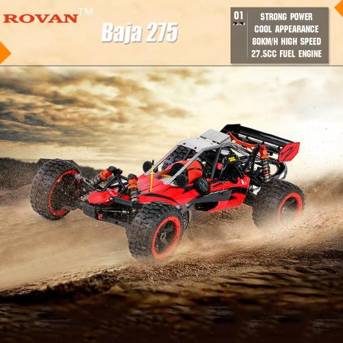 Buy Original Rovan Baja 275 1/5 2.4Ghz 2WD 27.5CC Gasoline Powered Desert Buggy RTR Remote Control Car