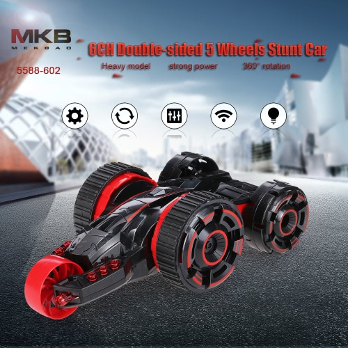 Buy MKB 5588-602 6CH Double-side 5 Wheels Stunt Tumbling 360° Rotation Off-road RC Car