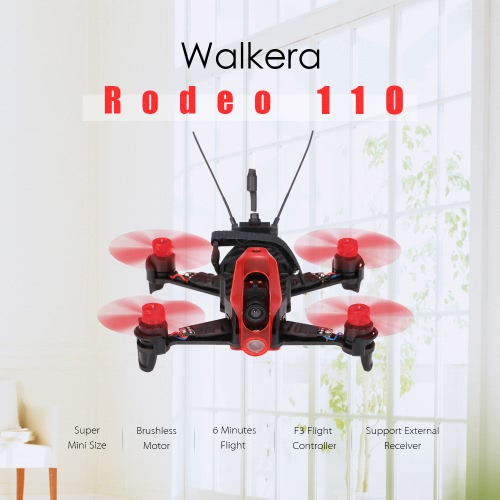 Buy Walkera Rodeo 110 Tiny Micro 5.8G FPV Racing Quadcopter F3 Flight Controller Brushless Indoor Drone BNF